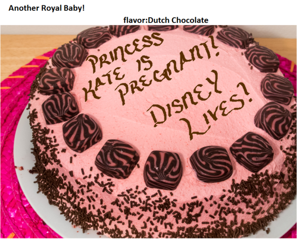 funny cake Disney Princess Kate