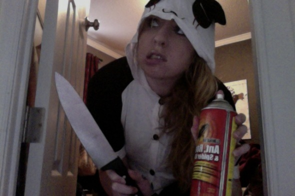 Yeah, it's a Panda onesie.  And it makes me feel powerful.