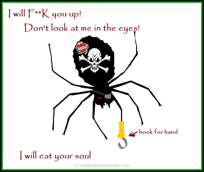 scary spider Tracy Lynn Combs eat your soul
