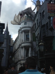 Dragon escaping from Gringotts