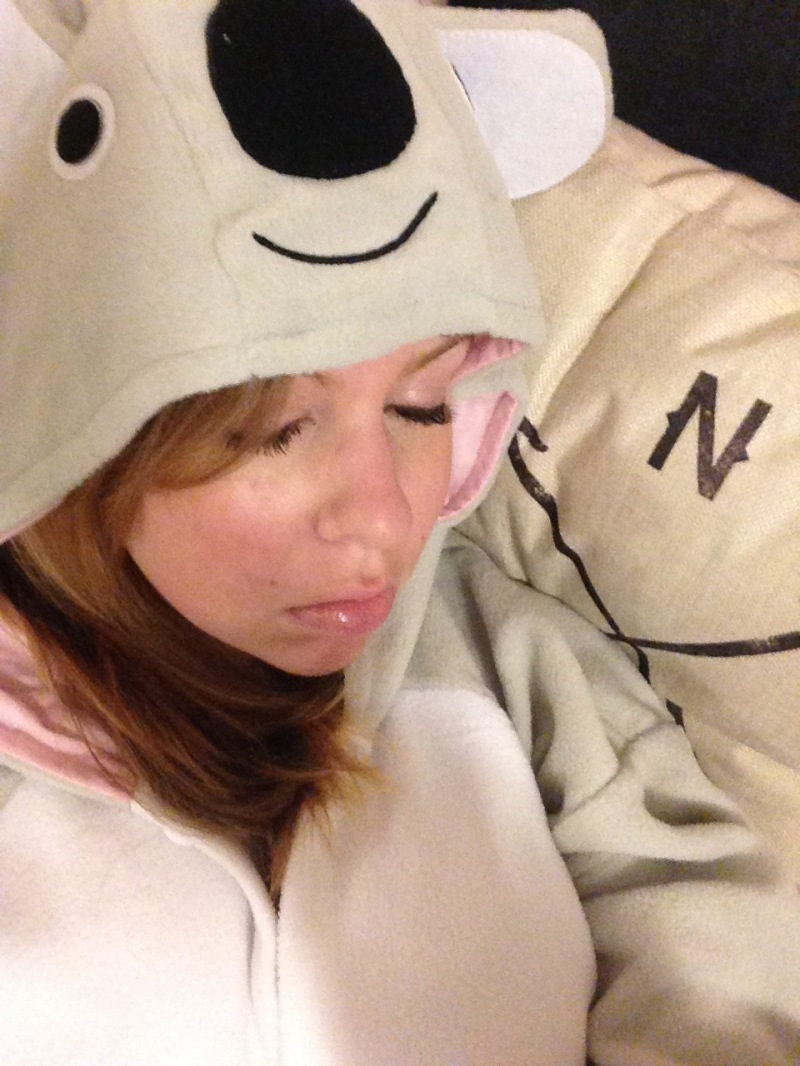 sleep koala onesie Tracy Lynn Combs